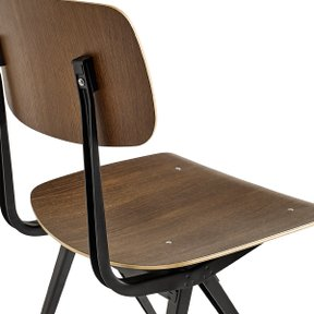 RESULT CHAIR SMOKED OAK/BLACK FRAME