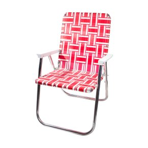 Deluxe Chair Red and White