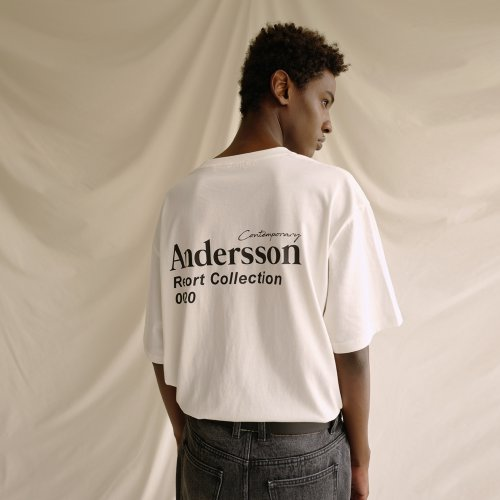 UNISEX ANDERSSON RESORT COLLECTION T-SHIRT atb316u(White)