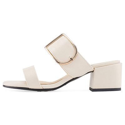 뮬 MS9090 Frame buckle mule 아이보리
