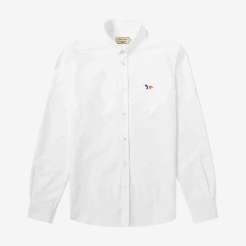 [PRE-ORDER] 20SS OXFORD TRICOLOR FOX PATCH CLASSIC SHIRT BD WHITE MEN AM00400WC0003