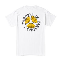 TROUBLE IN PARADISE TEE WHITE