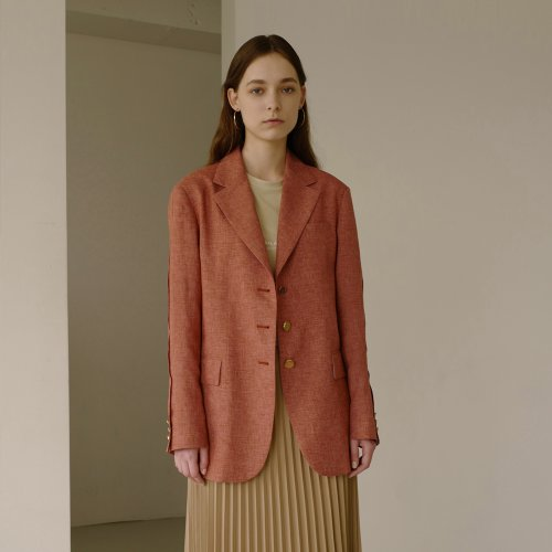 LEAH RESORT LINEN JACKET awa245w(Brick)