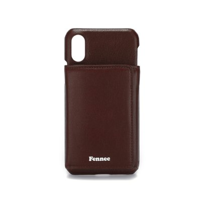 FENNEC LEATHER iPHONE X/XS TRIPLE POCKET CASE - WINE