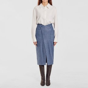/ oblique waist skirt(2 colors)