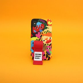 SUN CASE GRAPHIC HUMAN ORANGE RED(FINGER)