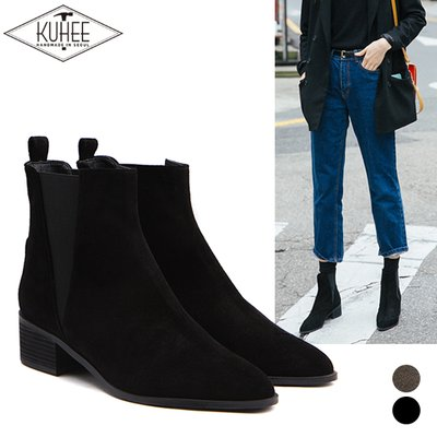[KUHEE] [기획상품]4cm Crisi ankle boots(220)