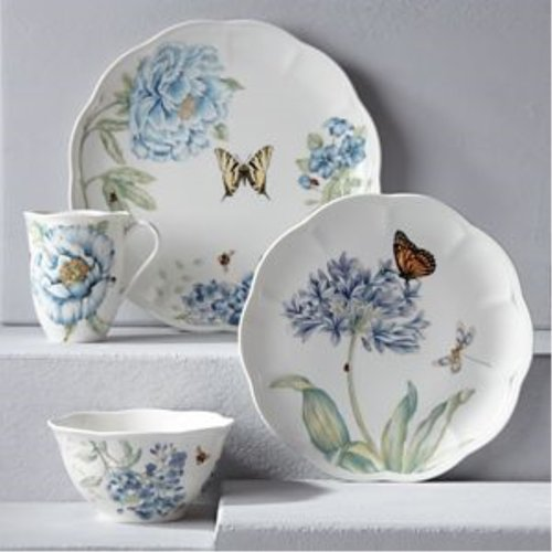 레녹스 Lenox Butterfly Meadow Blue 4 Place Setting