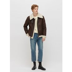 [PLAC] MENS SINGLE ZIPPER SHEARLING JACKET (PWON4LJL59MOW5)