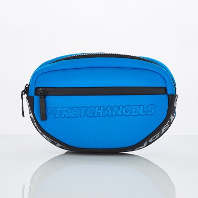 스트레치엔젤스[N.E.O] Round front zipper belt bag (Blue)