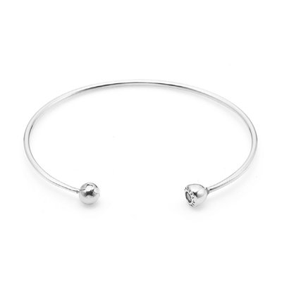 PANDORA 판도라 597229CZ Essence Silver Open Bangle 팔찌