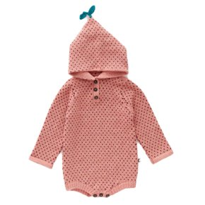 hooded dot onesie /OU19FRO03BN
