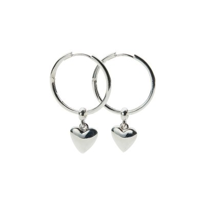 [레이브]Heart Ring Earrings in Silver VX0SX0540