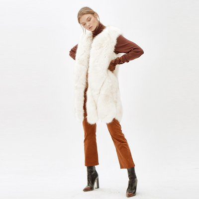 [30%할인적용가]JINNY faux fur vest_white