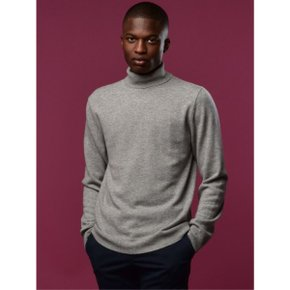 Men Turtleneck_Light Grey