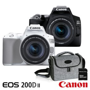 [정품] EOS 200D II 18-55mm STM KIT + 캐논가방 No.1973 + SDXC64G 메모리