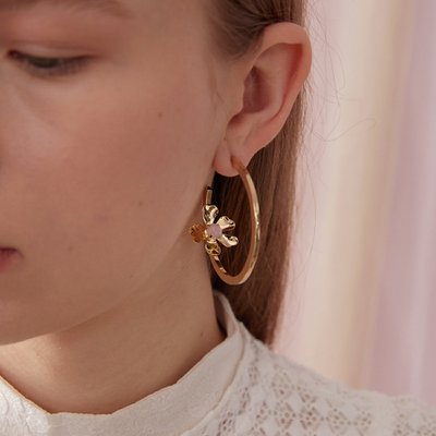 Flower ring Earring