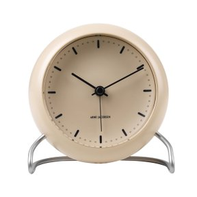 아르네야콥센 Table Clock City Hall Sandy Beige (43693)