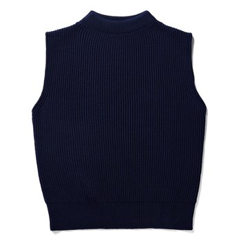 KNIT VEST ROYAL BLUE
