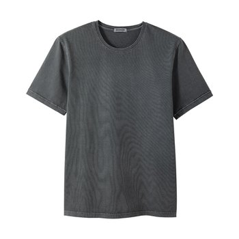 라이즈앤빌로우 7oz Supima 4ply Garment dyed Tee Pebble grey