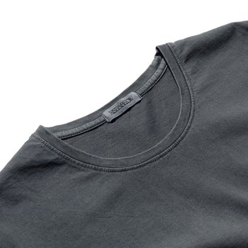 7oz Supima 4ply Garment dyed Tee Pebble grey