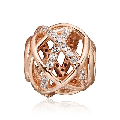 판도라 781388CZ abstract PANDORA Rose charm 로즈 갤럭시 참