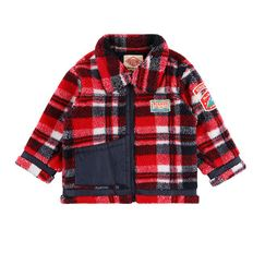 High-neck check dumble fur jacket / BP8427371