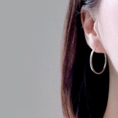 (92.5 silver) simple ring earring 02