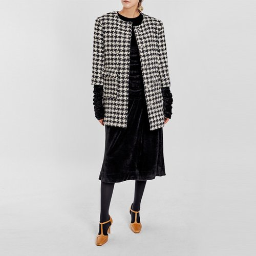/ houndstooth tweed jacket