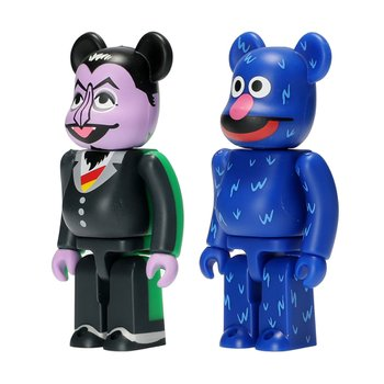 100% BEARBRICK COUNT VON COUNT & GROVER 2PACK