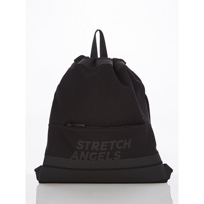 스트레치엔젤스[M.E.S.H] Zipper pocket string easy-bag (Black)