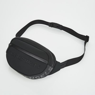 스트레치엔젤스[N.E.O] Round front zipper belt bag (Black)