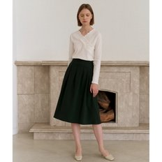 [20%할인가][엽페]TUCKED SKIRT_GREEN