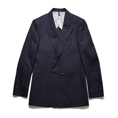 stripe wool double suit jacket_CWFBM18456NYX