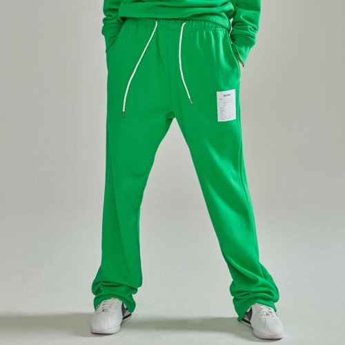 [NOHANT] NAME LABEL SWEATPANTS GREEN