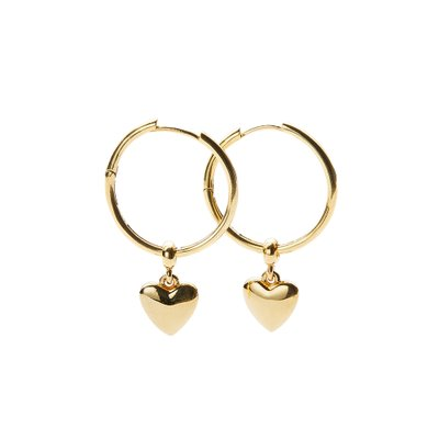 [레이브]Heart Ring Earrings in Gold VX0SX0550