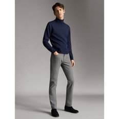 SLIM FIT DENIM-LIKE  MELANGE TROUSERS 00032132802