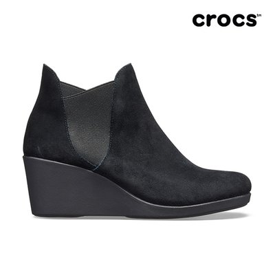 크록스공식  여성 LEIGH WEDGE CHELSEA BOOT W BLK (19FWCF205338)