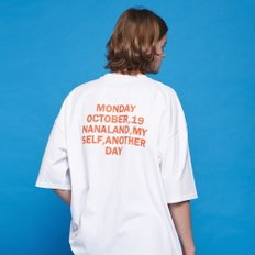 ANOTHER FRAME - ANOTHER DAY POCKET T-SHIRT (WHITE) 반팔티