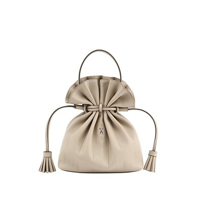 [하트시그널PICK]Lucky Pleats Crossbag Ecru Beige