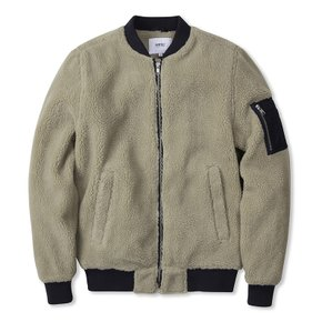 (H4)The Teddy Bomber(unisex jackets.chinchilla)
