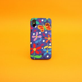 SUN CASE GRAPHIC FLOWER BLUE