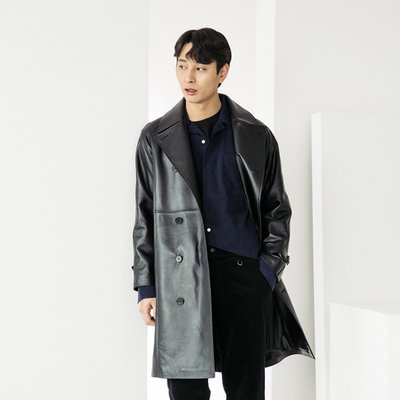 LAMB SKIN Trenchcoat [BLACK] (2070641)