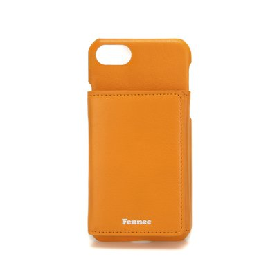 FENNEC LEATHER iPHONE 7/8 TRIPLE POCKET CASE - MANDARIN