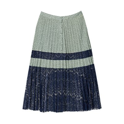 [레이브]Dot Lace Pleated Skirt in D/Mint_VW0SS0860