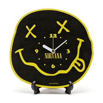 NIRVANA SMILE CLOCK BLACK