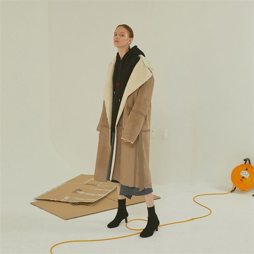 [MUSEE]Marcel faux- shearing mustang coat _ beige (1940999)