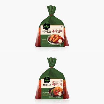 [CJ제일제당]CJ 비비고김치 소용량 20%에누리 (포기배추김치/총각김치)