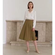 [20%할인가][엽페]TUCKED SKIRT_BEIGE