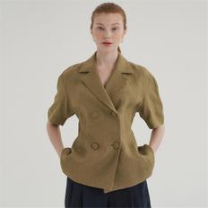 [블랭크03] linen summer jacket_khaki